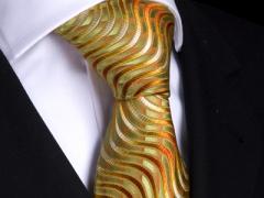 Handvernähte Krawatte aus Seide im multicolor Design