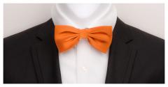 Herrenfliege aus feinster Seide, orange und vorgebunden