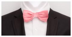 Herrenfliege aus feinster Seide, rosé und vorgebunden