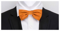 Herrenfliege aus feinster Seide, Paisley orange