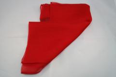 Damentuch bedruckt Seide Satin, 25x150cm, uni rot