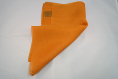 Damentuch bedruckt Seide Chiffon, 53x53cm, uni orange