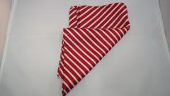 Damentuch bedruckt Seide Twill, 25x150cm, Rot mit weissen Streifen