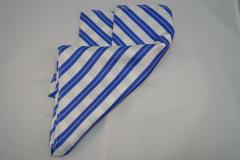 Damentuch bedruckt Seide Twill, 25x150cm, blau weiss gestreift