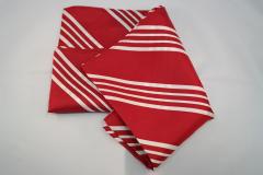 Damentuch bedruckt Seide Twill, 25x150cm, rot weiss gestreift