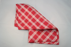 Damentuch bedruckt Seide Twill, 55x55cm, rot weiss gestreift