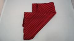 Damentuch bedruckt Seide Twill, 25x150cm, Rot gestreift