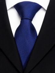 Handvernähte Krawatte aus Seide in Blau, changierend gewoben