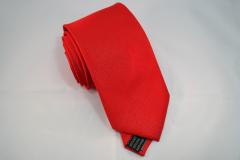 Handvernähte Krawatte aus Seide in uni rot
