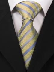 Handvernähte Krawatte aus Seide mit goldenen Ornamenten